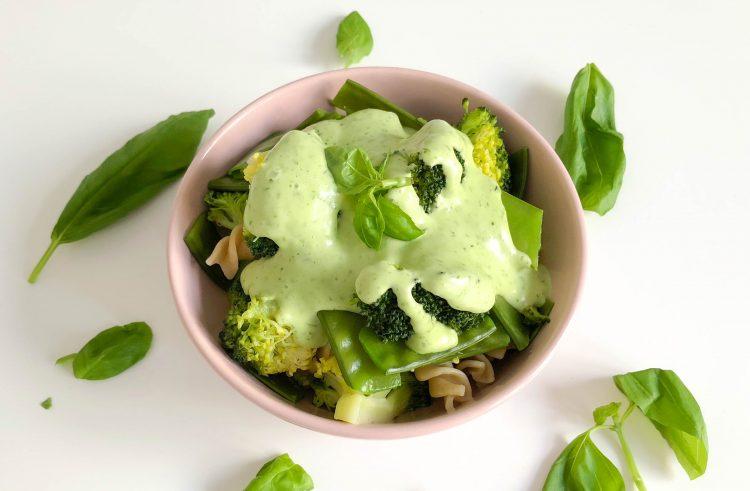 Pasta met broccoli en peultjes