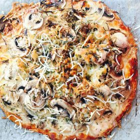 Pizzabodem van kikkererwten