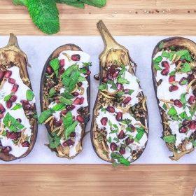 Gevulde-aubergines
