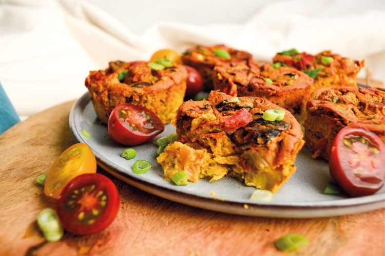 vegan miniquiches